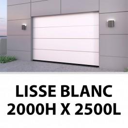 Porte de garage sectionnelle lisse blanc 2000Hx2500L