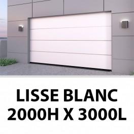 Porte de garage sectionnelle lisse blanc 2000Hx3000L