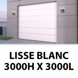 Porte de garage sectionnelle lisse blanc 3000Hx3000L