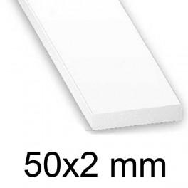 Plat PVC blanc 50 x 2 mm