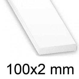 Plat PVC blanc 100 x 2 mm