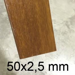 Plat PVC chêne doré 50 x 2,5 mm