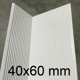 Cornière PVC blanc 40 x 60 mm