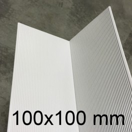 Cornière PVC blanc 100 x 100 mm