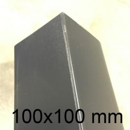 Cornière PVC gris anthracite 100 x 100 mm