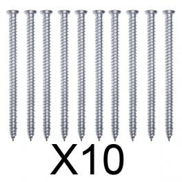 Vis béton sans cheville 7,5 x 152 tête fraisée - Lot de 10