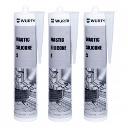 LOT de 3 cartouches de silicone WURTH 310 ml