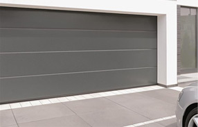 Porte de garage sectionnelle sur mesure - Porte de garage sectionnelle gris anthracite ...
