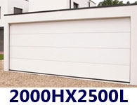 Porte De Garage Sectionnelle Sur Mesure - Dimension standard porte de garage