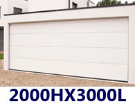 Dimension porte garage sectionnelle double - Porte de garage sectionnelle 300 x 200 ...