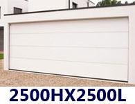 Porte de garage sectionnelle sur mesure for Taille porte de garage sectionnelle standard